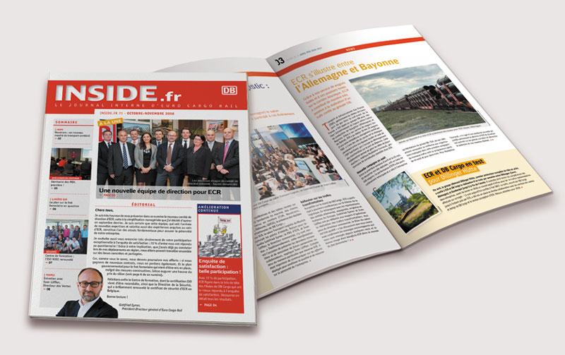 DB Cargo / Magazine Interne / Avec des Mots Communication éditoriale