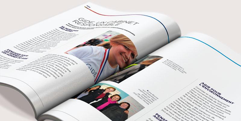 GIDE / Rapport Annuel / Avec des Mots Communication éditoriale