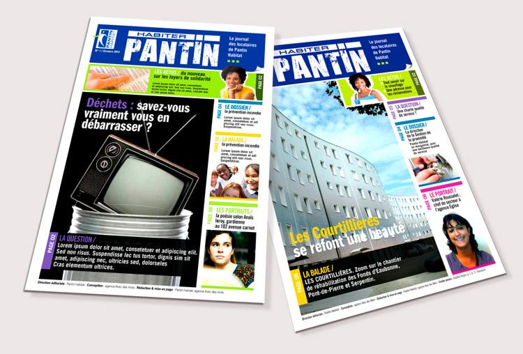 Ville de Pantin / Pantin Habitat / Avec des Mots Communication éditoriale