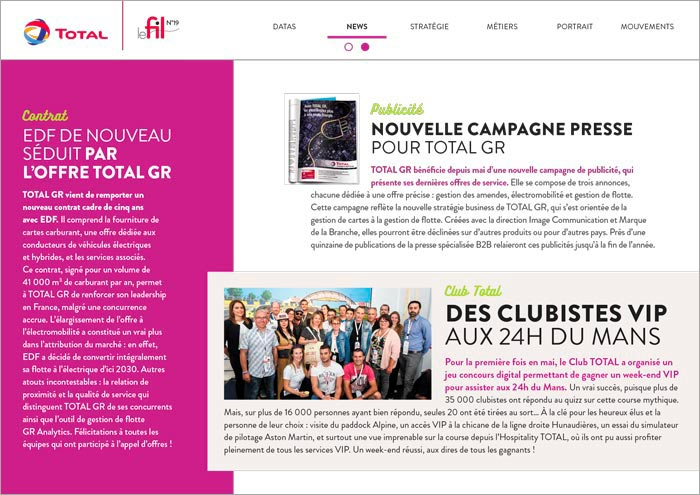 TOTAL Magazine interne _ News