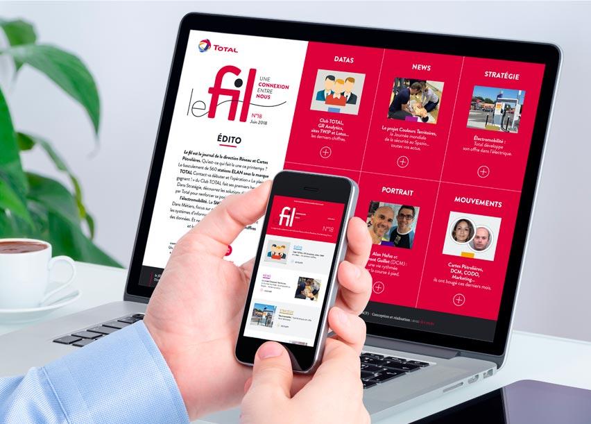 Total Magazine interne digital