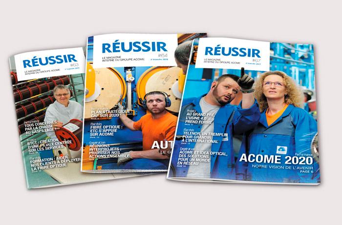 Acome Magazines / Avec des Mots Communication éditoriale