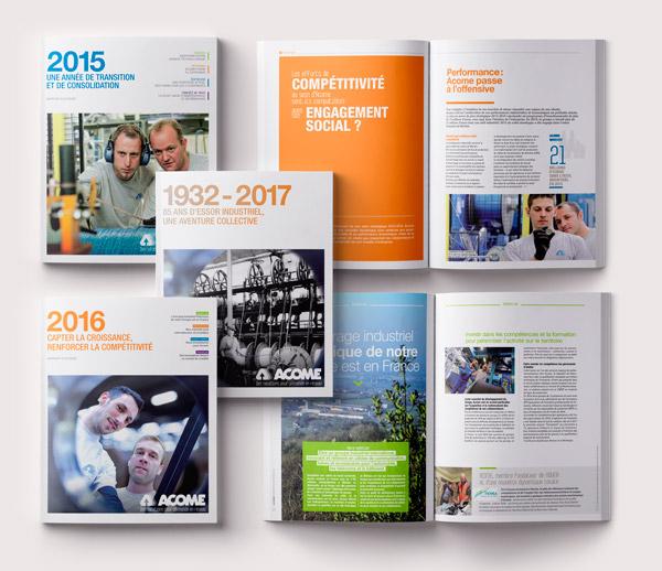 Acome Rapport Annuel / Avec des Mots Communication éditoriale