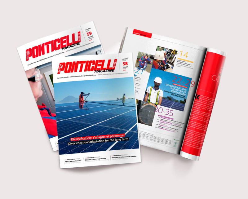 Ponticelli / Magazine Interne / Avec des Mots Communication éditoriale