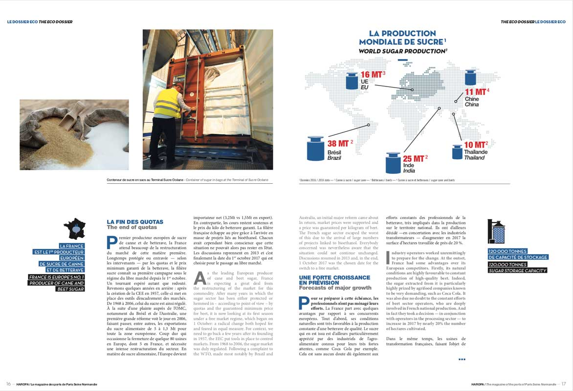 Haropa mag page interieure filiere sucre