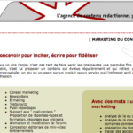 Le site de l'agence Avec des Mots en 2000