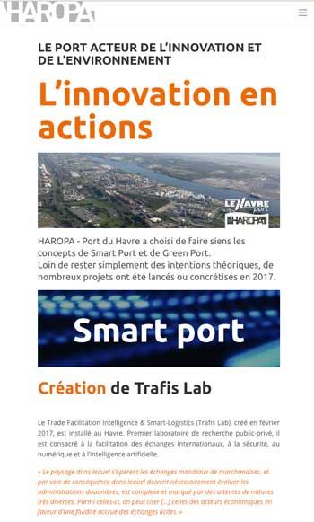 rapport actiite digital Haropa port du Havre