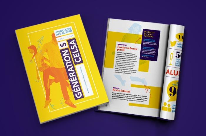 Annuaire Celsa Alumni réalisé par l'agence Avec des Mots