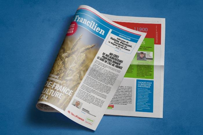 le journal Le Francilien édité par le CERVIA pour le salon de l'agriculture